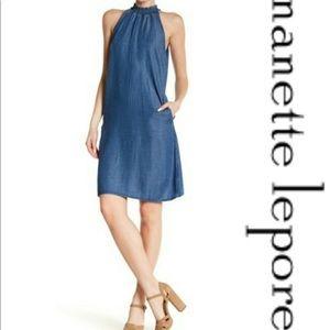 Nanette Lepore Denim Chambray Shift Dress